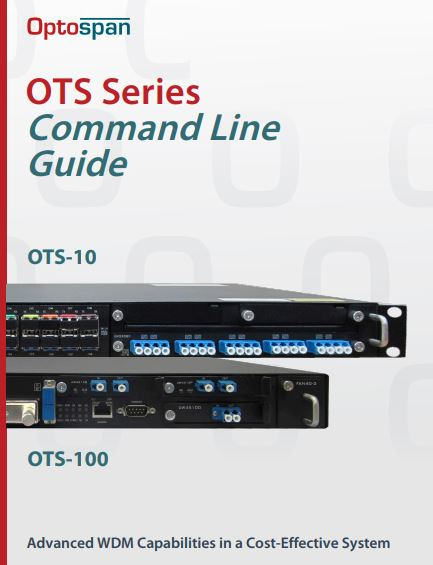 OTS Series CLI Guide